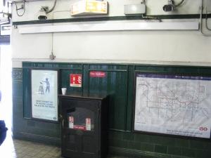 Fire equipment Holloway Road Underground Station