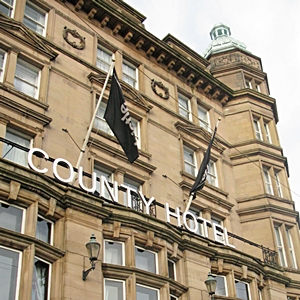 The exterior of the County Hotel