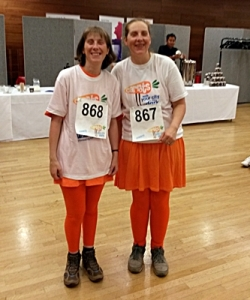 Sarah and Lorna ready to set off