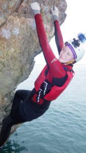 Jessica climbing