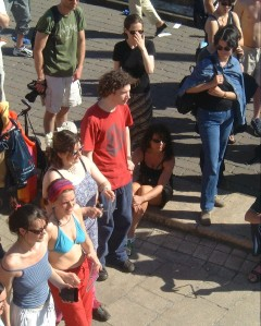 A group of students