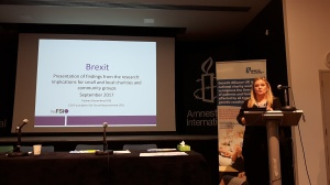 Pauline Broomhead giving a presentation about Brexit at the Genetic Alliance Conference 2017