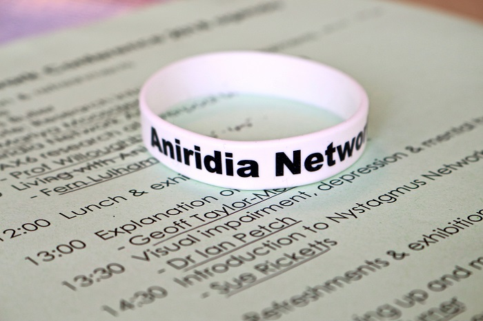 Aniridia Network wristband on a Conference 2018 agenda