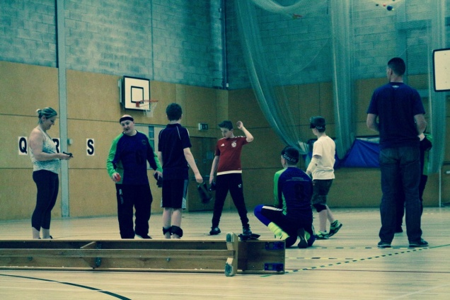 Group of goalball teachers and learners