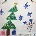 Christnas tree and stars card