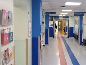 Corridor of Moorfields Eye Hospital