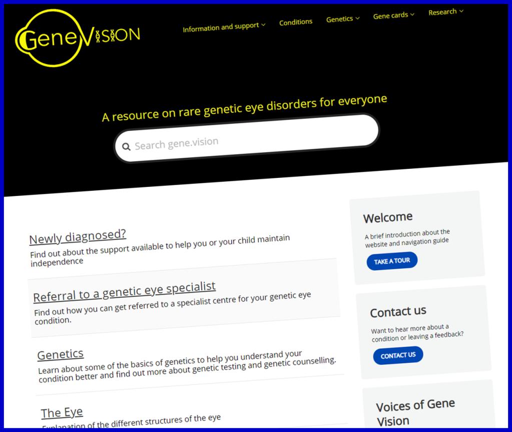 Gene.Vision website screenshot