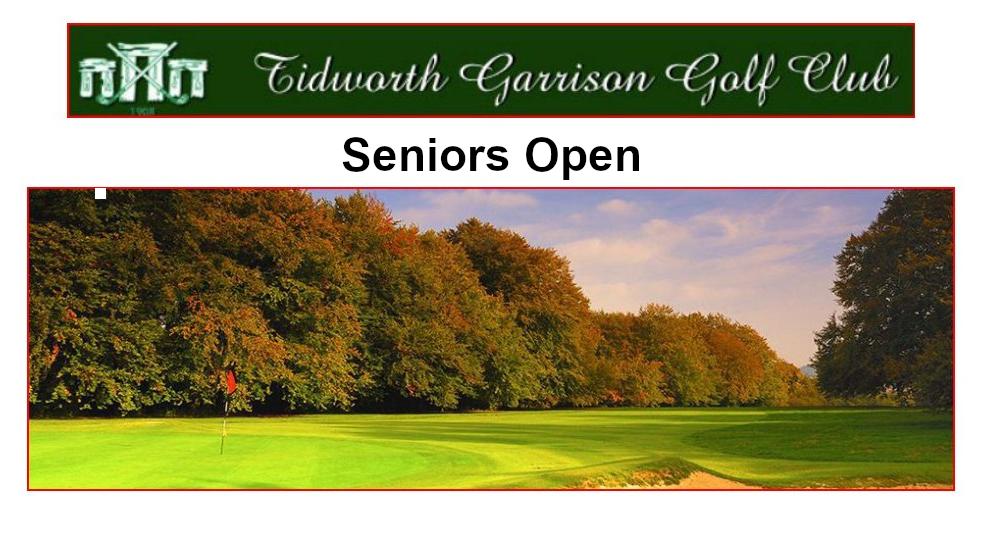 Tidworth Garrison Golf Club Seniors Open