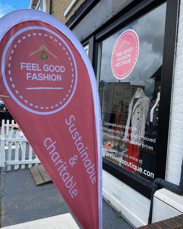 Feel Good Fashion banner and shop front